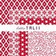 Digital Paper: Red Christmas Paper Pack