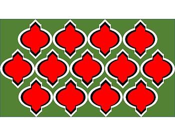 Digital Paper - Red & Green Moroccan