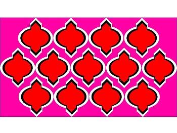 Digital Paper - Red & Pink Moroccan