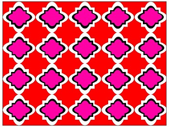 FREE Digital Paper - Red & Pink Moroccan