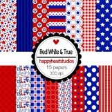Digital Paper Red White&True