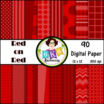 Digital Paper - Red on Red - Commercial Use!