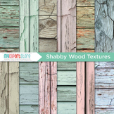 Digital Paper Texture -  Distressed Wood / Rustic Painted Ply Wood