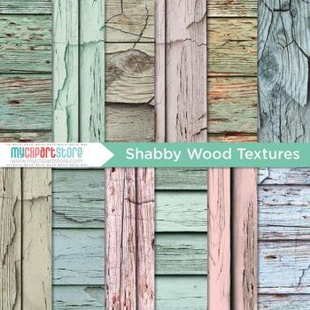 Digital Paper Texture -  Distressed Wood / Rustic Painted