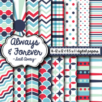Digital Paper Sail Away