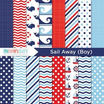 Digital Paper - Sail Away (boy)