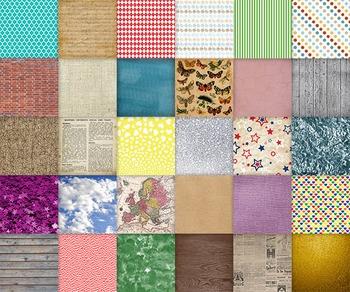 Digital Paper Sampler - 30 Different Papers - 12inx12in