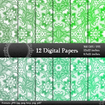 Digital Paper Scrap Booking Abstract Graphics Jpeg Piecing Background Journal A4