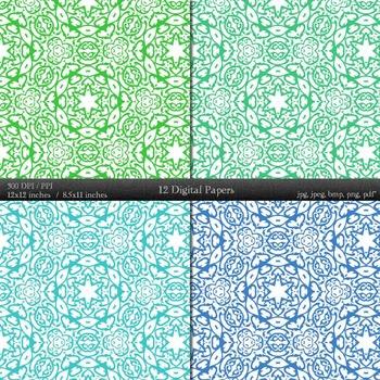 Digital Paper Scrap Booking Piecing Retro Decorative Layout Cover Clip Making A4