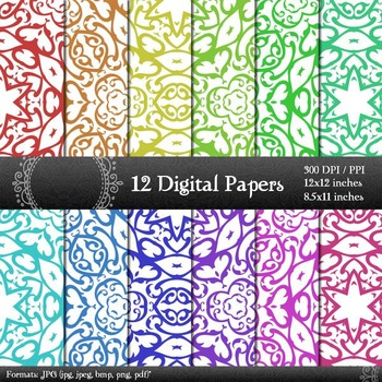Digital Paper Scrap Booking Piecing Retro Decorative Layou