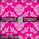 Digital Paper- Scrapbook Damask Pattern {Messare Clips and
