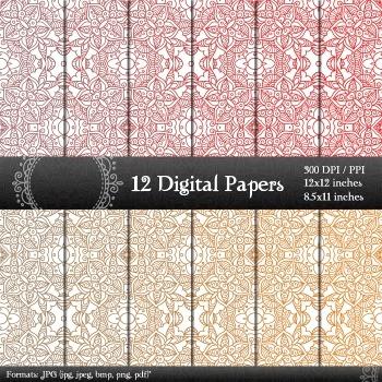 Digital Paper Scrapbook Texture Seamless Art Lot Pack Card Instant Download A4