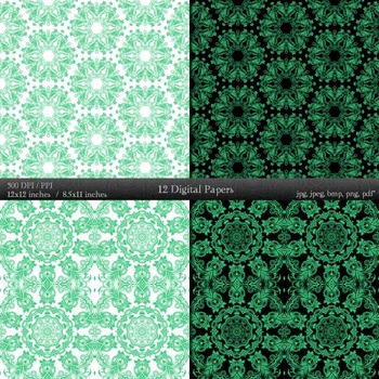 Digital Paper Scrapbooking Lace Embellishment Premade Flower Instant Download A4