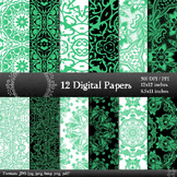 Digital Paper Scrapbooking Lace Embellishment Premade Flow
