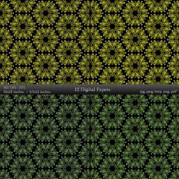 Digital Paper Scrapbooking Layout Printable Clip Template  Decoration Art Set A4