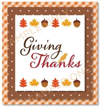 Digital Paper - Thanksgiving Dinner / Tablecloth / Gingham / Plaid