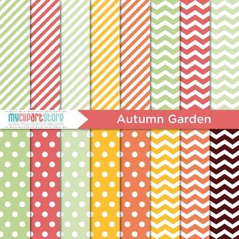Digital Paper - Seasons: Autumn Garden (Fall)