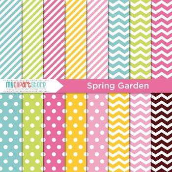Digital Paper - Seasons: Spring Garden