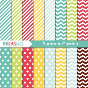 Digital Paper - Seasons: Summer Garden