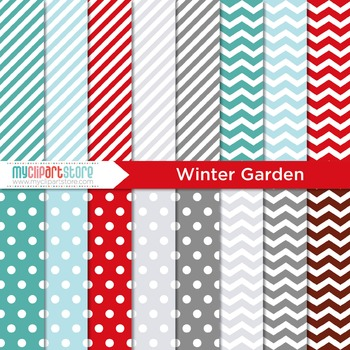Digital Paper - Seasons: Winter Garden