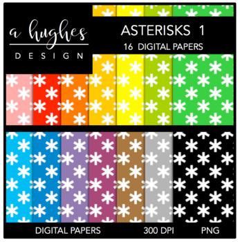 12x12 Digital Paper Set: Asterisks 1 {A Hughes Design}