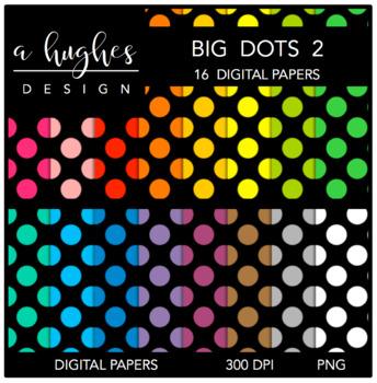 12x12 Digital Paper Set: Big Dots 2 {A Hughes Design}