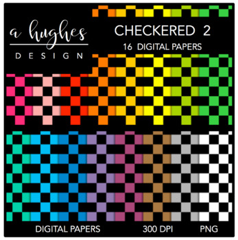 12x12 Digital Paper Set: Checkered 2 {A Hughes Design}