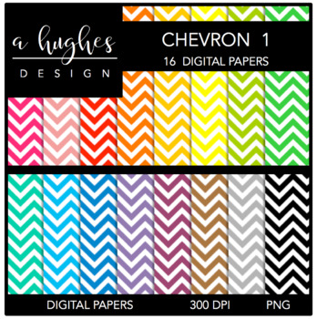 12x12 Digital Paper Set: Chevron 1 {A Hughes Design}