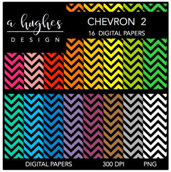 Digital Paper Set: Chevron 2 {Graphics for Commercial Use}