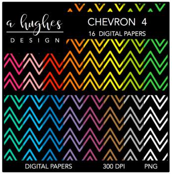 12x12 Digital Paper Set: Chevron 4 {A Hughes Design}