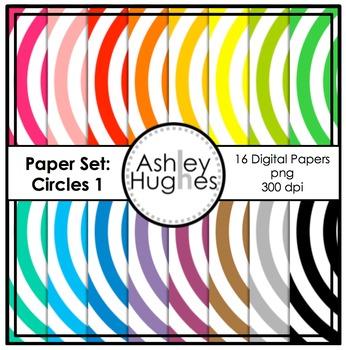 12x12 Digital Paper Set: Circles 1 {A Hughes Design}