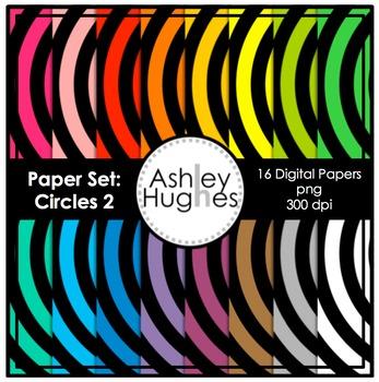 12x12 Digital Paper Set: Circles 2 {A Hughes Design}