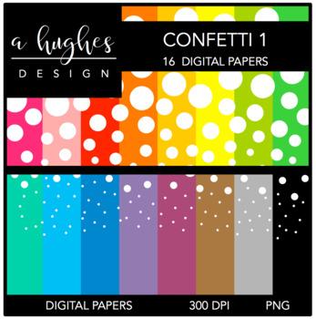12x12 Digital Paper Set: Confetti 1 {A Hughes Design}