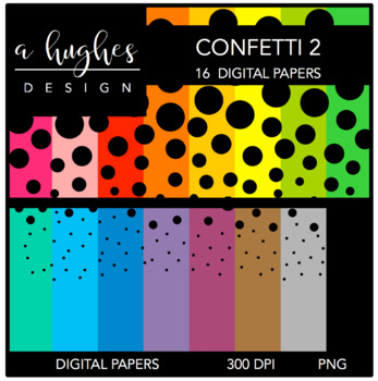 Digital Paper Set: Confetti 2 {Graphics for Commercial Use}