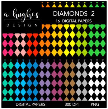 12x12 Digital Paper Set: Diamonds 2 {A Hughes Design}