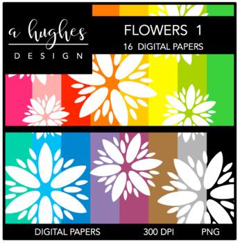 12x12 Digital Paper Set: Flowers 1 {A Hughes Design}