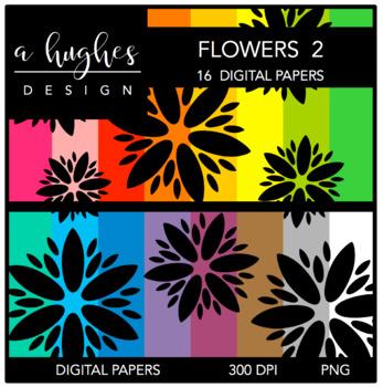 12x12 Digital Paper Set: Flowers 2 {A Hughes Design}