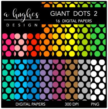 12x12 Digital Paper Set: Giant Dots 2 {A Hughes Design}