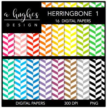 12x12 Digital Paper Set: Herringbone 1 {A Hughes Design}
