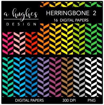 12x12 Digital Paper Set: Herringbone 2 {A Hughes Design}