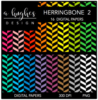 Digital Paper Set: Herringbone 2 {Graphics for Commercial Use}
