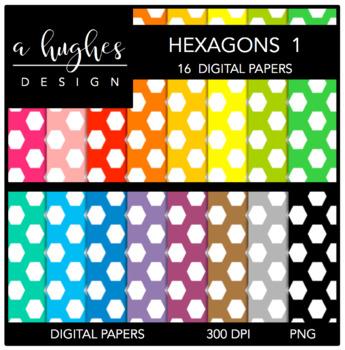 12x12 Digital Paper Set: Hexagons 1 {A Hughes Design}