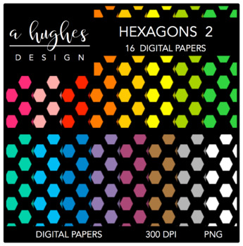 Digital Paper Set: Hexagons 2 {Graphics for Commercial Use}