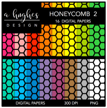 12x12 Digital Paper Set: Honeycomb 2 {A Hughes Design}