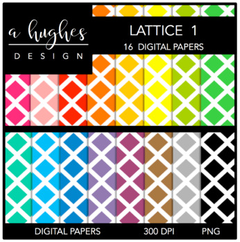 12x12 Digital Paper Set: Lattice 1 {A Hughes Design}