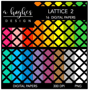 12x12 Digital Paper Set: Lattice 2 {A Hughes Design}