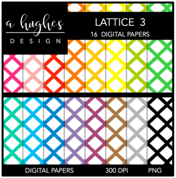 Digital Paper Set: Lattice 3 {Graphics for Commercial Use}