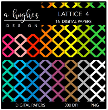 Digital Paper Set: Lattice 4 {Graphics for Commercial Use}