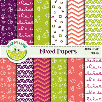 Digital Paper Set - Mixed Papers