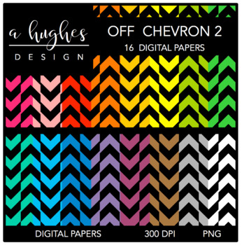 Digital Paper Set: Off Chevron 2 {Graphics for Commercial Use}